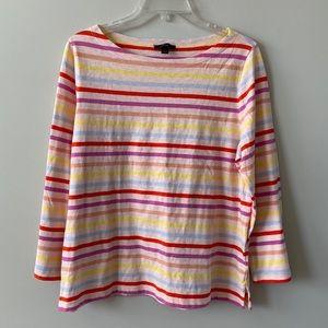 J.CREW multicolored striped top